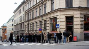 The Swedish Lunchtime Queue