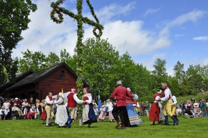 Swedes enjoying Midsommar.
