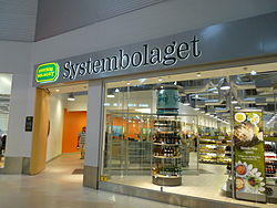 A Systembolaget store in Sweden