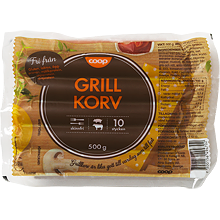 Here you can see grillkorv that will feed one Swede for 3 days.