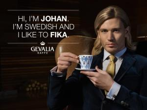 Johan apparently likes to fika.