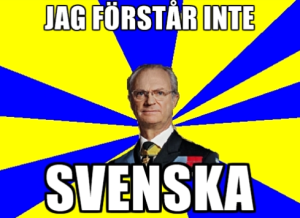Carl XVI Gustaf of Sweden doesn't understand.
