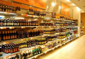 Perfectly organized beer in Systembolaget, most likely waiting in a queue